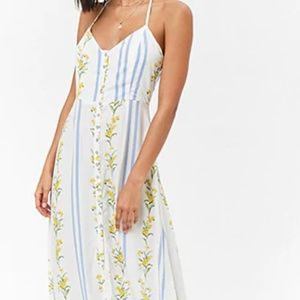 F21 | Beautiful Floral Button Down Maxi Dress